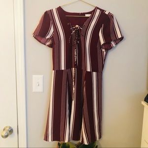 Lovers + Friends Stripped Lace up Dress